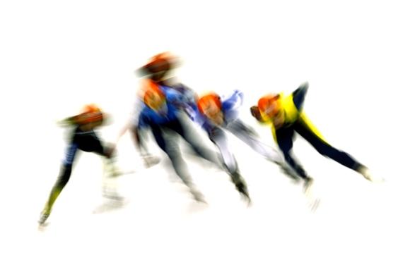 Ronda clasificación en patinaje de velocidad.